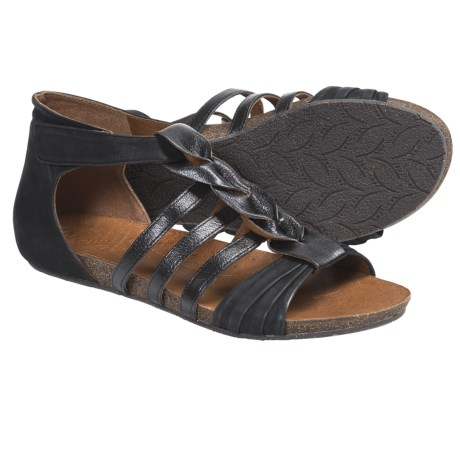 Naya Palomi Gladiator Sandals (For Women) in Black