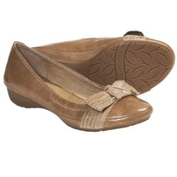 Naya Rapsody Slip-On Shoes - Leather (For Women) in Camel