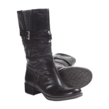 Naya Saffron Mid-Calf Boots - Leather (For Women) in Black - Closeouts