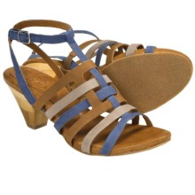 Naya Tatiana Strappy Sandals - Leather (For Women) in Navy Multi - Closeouts