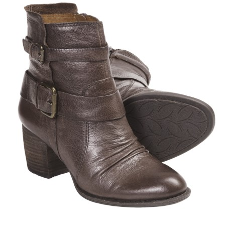 Naya Virtue Leather Boots (For Women) in Brown