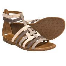 Naya Zamira Gladiator Sandals - Leather (For Women) in Taupe/Natural/Oxford Brown - Closeouts