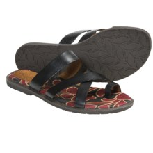 Naya Zoe Sandals - Leather (For Women) in Black - Closeouts