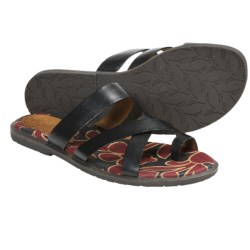 Naya Zoe Sandals - Leather (For Women) in Black