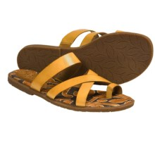 Naya Zoe Sandals - Leather (For Women) in Hot Mustard - Closeouts
