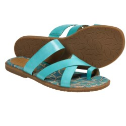 Naya Zoe Sandals - Leather (For Women) in Turquoise