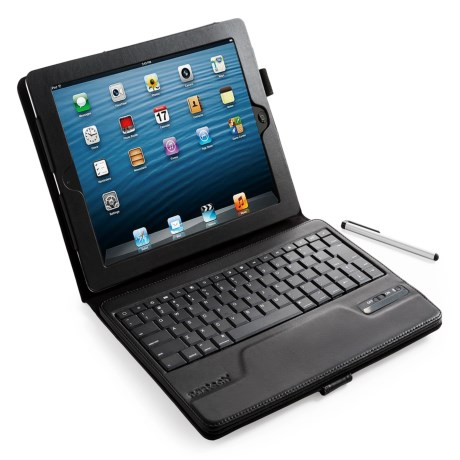 Naztech iPad® Case with Bluetooth Keyboard & Stylus - V2.0 in White