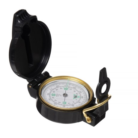 NDūR Lensatic Compass with Whistle in See Photo