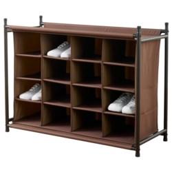 neatfreak!® 16-Compartment Shoe Organizer in Rich Brown
