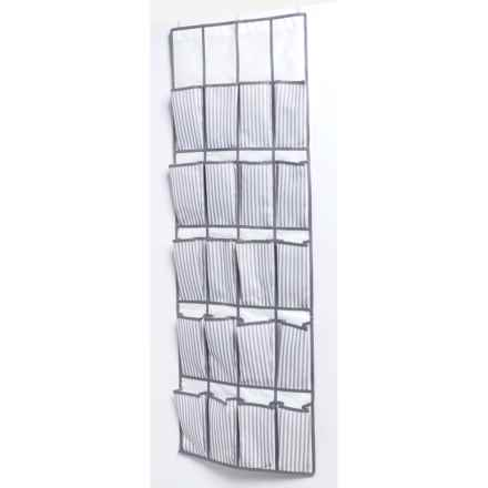 neatfreak! 20-Pocket Over-the-Door Organizer - Ticking Stripe in White/Gray - Closeouts