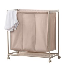 neatfreak! 3-Compartment Laundry Cart in Taupe - Closeouts