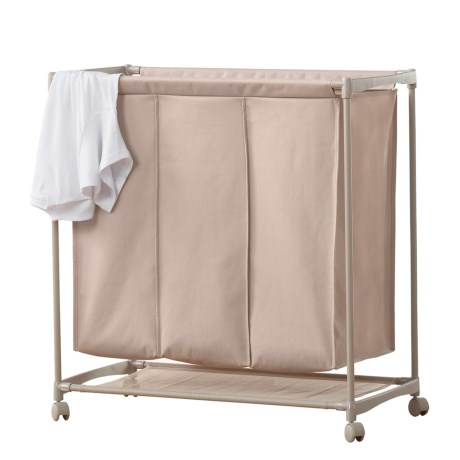 neatfreak! 3-Compartment Laundry Cart in Taupe