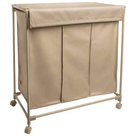 neatfreak! 3-Compartment Laundry Sorter with Lid in Beige - Closeouts