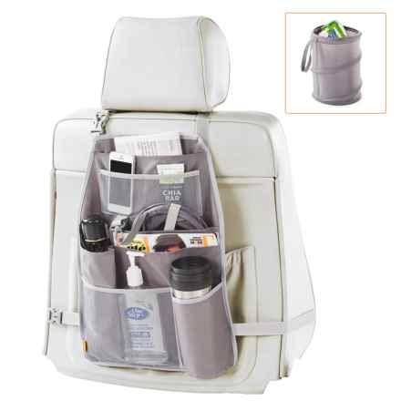 neatfreak! Car Seat-Back Organizer with Pop-Up Trash Bag in Grey - Closeouts