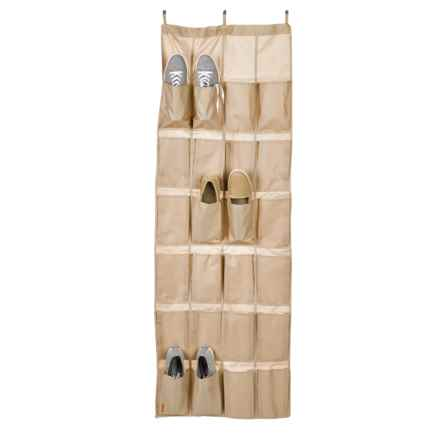 neatfreak! closetMAX Over-the-Door Footwear Organizer - 24-Pocket in Sand Pebble Taupe - Closeouts