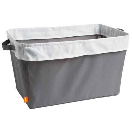 neatfreak! Collapsible Cuffed Stowaway Laundry Basket in Charcoal Gray - Closeouts