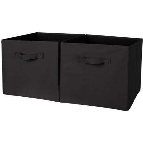 neatfreak! Collapsible Storage Bins - Set of 2 in Black