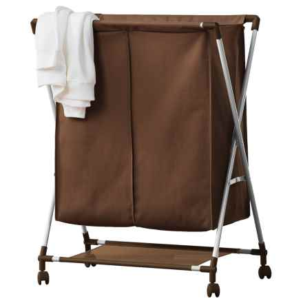neatfreak!® Double-Compartment Laundry Sorter in Chocolate - Closeouts