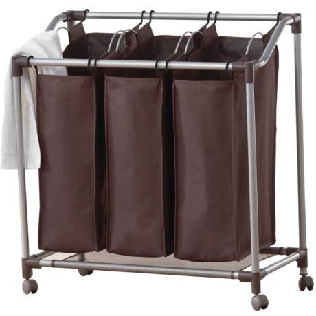 neatfreak!® everfresh® Deluxe Triple Laundry Sorter in Spanish Brown/Silver