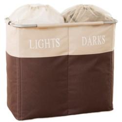 neatfreak!® everfresh® Double Frame Laundry Hamper in Brown