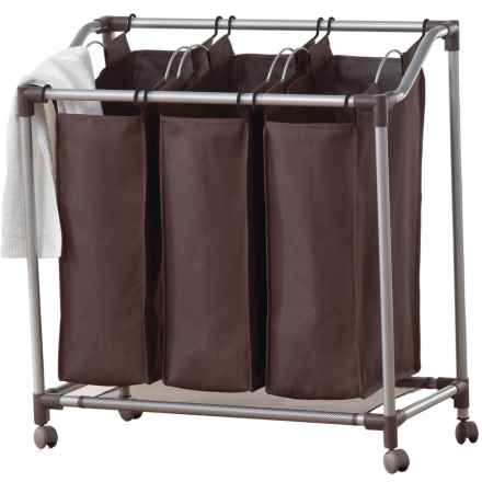 neatfreak!® everfresh® Triple Laundry Sorter in Spanish Brown/Silver - Overstock