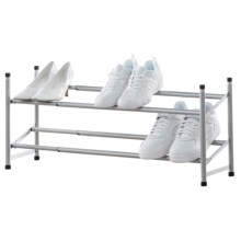 neatfreak! Expandable Stackable Shoe Rack in Powder Coated Grey - Overstock