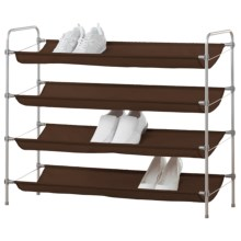neatfreak! Fashion Shoe Rack in Spanish Brown/Silver - Overstock