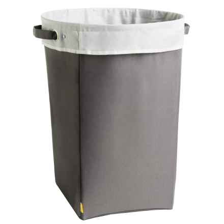 neatfreak! Large Cuffed Empire Laundry Hamper in Charcoal Gray - Closeouts