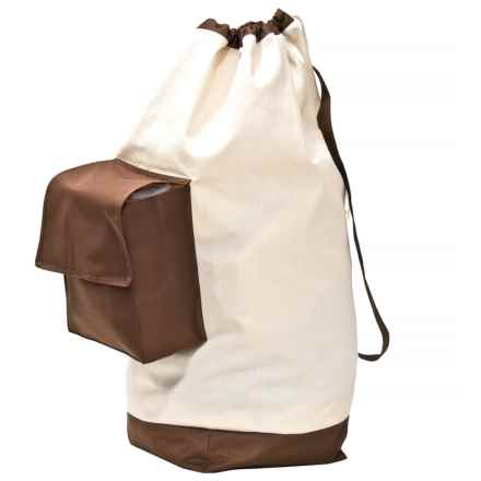 neatfreak! Laundry Bag with Pocket - Canvas in Brown/ Tan - Closeouts
