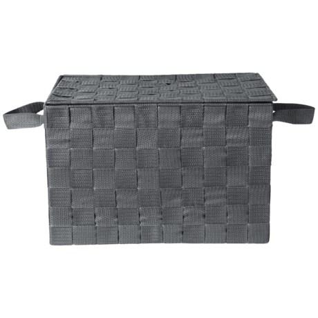 Neatfreak! Lidded Strap Storage Bin   Medium In Dark Grey