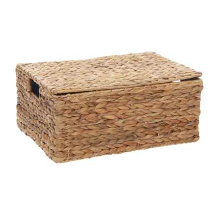 neatfreak! Michael Graves Hyacinth Lidded Bin - Medium in Natural - Closeouts