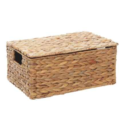 neatfreak! Michael Graves Hyacinth Lidded Bin - Small in Natural - Closeouts