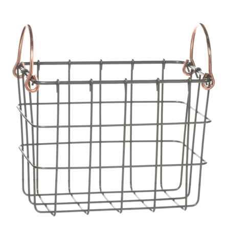 neatfreak! Michael Graves Small Rectangle Wire Bin - Copper Handles in Grey - Closeouts