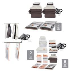 neatfreak! neatbag Complete Combo Vacuum Bag Storage Set - 9-Piece in Clear