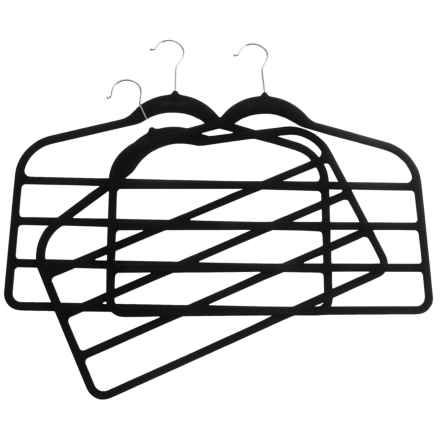 neatfreak! Non-Slip Felt Pant Hangers - 3-Pack in Black/Anthracite - Closeouts