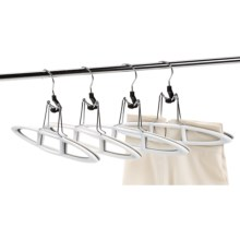 neatfreak! Non-Slip Pant and Skirt Hangers - 4-Pack in White/Grey - Closeouts