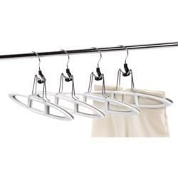neatfreak! Non-Slip Pant and Skirt Hangers - 4-Pack in White/Grey