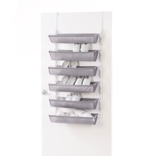 neatfreak! Over-the-Door Shoe Rack - 6-Sling in White / Gray - Overstock
