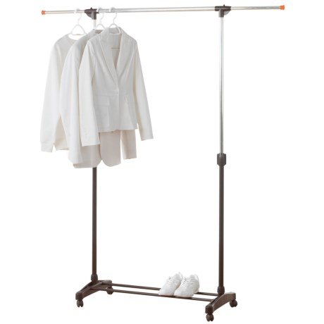 neatfreak! Single Bar Garment Rack - Adjustable in Silver/Black
