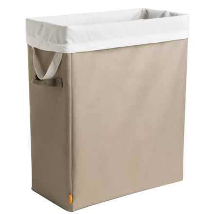 neatfreak! Slim Space-Saving Laundry Hamper in Beige/String - Closeouts
