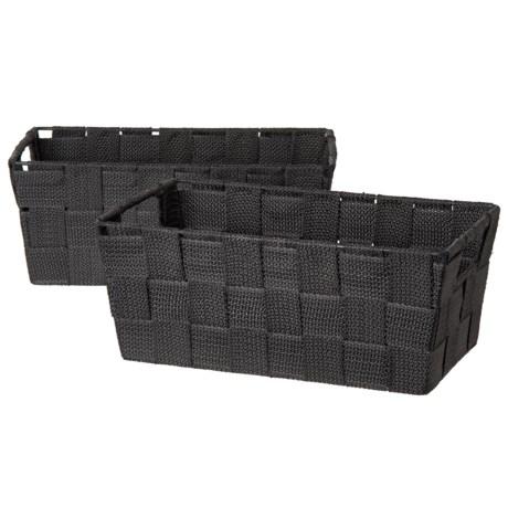 Neatfreak! Storage Trays   Set Of 2, 11.25x6.5u201d In Black