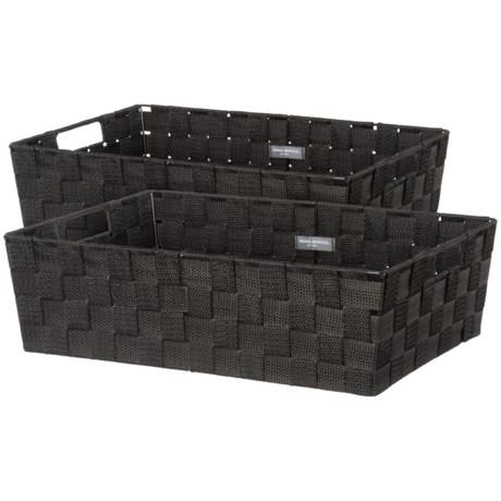 "neatfreak! Storage Trays - Set of 2, 17x11.5"" in Black"