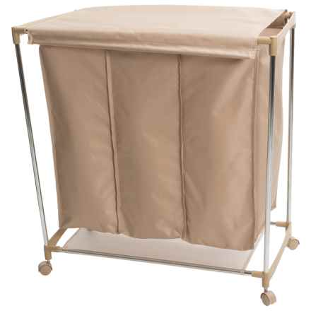 neatfreak!® Triple-Compartment Laundry Sorter in Beige - Closeouts