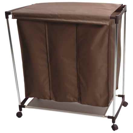 neatfreak!® Triple-Compartment Laundry Sorter in Chocolate - Closeouts