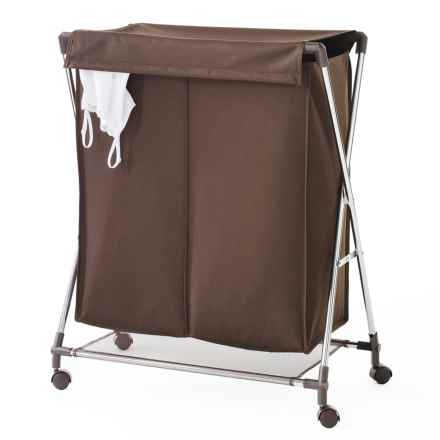 neatfreak! Two-Compartment Folding Clothes Hamper in Brown - Closeouts
