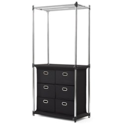 neatfreak!® Uptown 6-Drawer Clothing Organizer in Black
