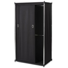 neatfreak!® Uptown Double Armoire with Sliding Curtain in Black - Overstock