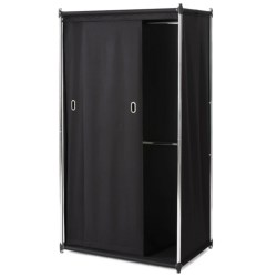 neatfreak!® Uptown Double Armoire with Sliding Curtain in Black