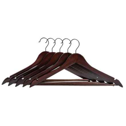 neatfreak! Wood Clothes Hangers - 5-Pack in Walnut - Closeouts