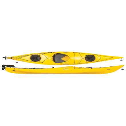"Necky Eliza Day Touring Kayak with Rudder - Sit-In, 15'4"" (For Women) in Yellow - Closeouts"